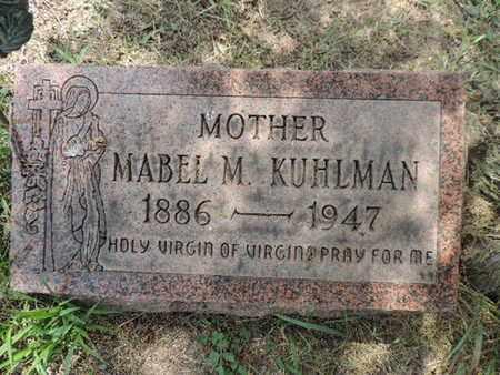 KUHLMAN, MABEL M - Franklin County, Ohio | MABEL M KUHLMAN - Ohio Gravestone Photos