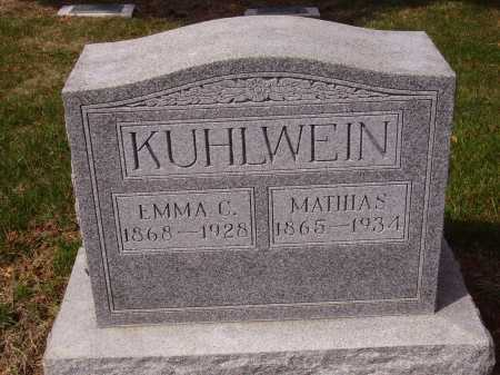 KUHLWEIN, MATHIAS - Franklin County, Ohio | MATHIAS KUHLWEIN - Ohio Gravestone Photos