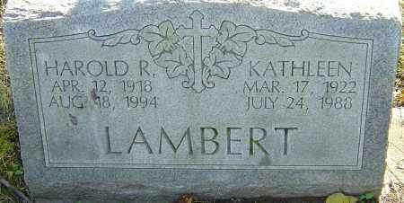LAMBERT, HAROLD - Franklin County, Ohio | HAROLD LAMBERT - Ohio Gravestone Photos