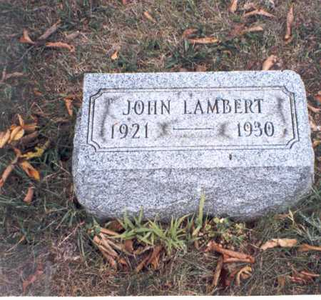 LAMBERT, JOHN - Franklin County, Ohio | JOHN LAMBERT - Ohio Gravestone Photos