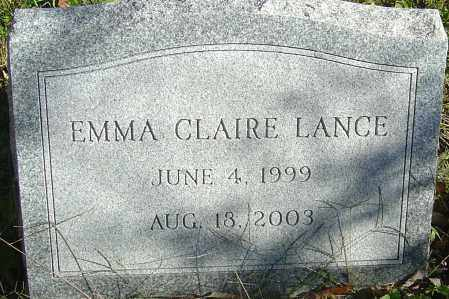 LANCE, EMMA CLAIRE - Franklin County, Ohio | EMMA CLAIRE LANCE - Ohio Gravestone Photos