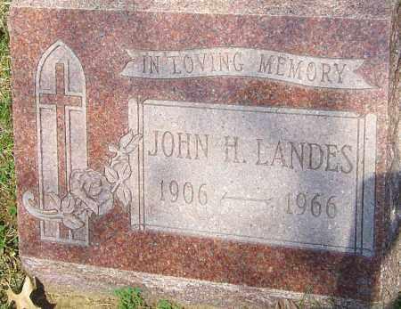 LANDES, JOHN HENRY - Franklin County, Ohio | JOHN HENRY LANDES - Ohio Gravestone Photos