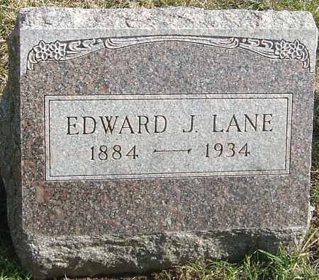 LANE, EDWARD J - Franklin County, Ohio | EDWARD J LANE - Ohio Gravestone Photos