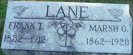 LANE, MARSH O - Franklin County, Ohio | MARSH O LANE - Ohio Gravestone Photos