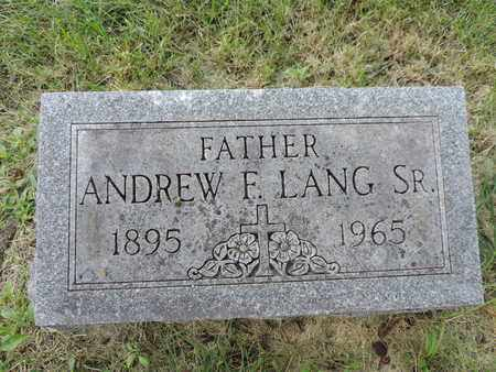LANG, ANDREW F. - Franklin County, Ohio | ANDREW F. LANG - Ohio Gravestone Photos