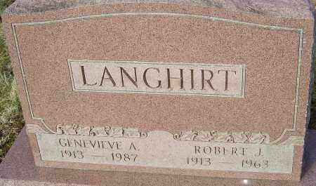 DUFALA LANGHIRT, GENEVIEVE A - Franklin County, Ohio | GENEVIEVE A DUFALA LANGHIRT - Ohio Gravestone Photos