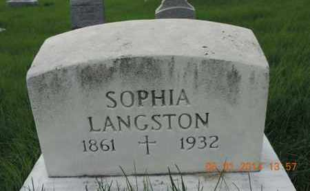 LANGSTON, SOPHIA - Franklin County, Ohio | SOPHIA LANGSTON - Ohio Gravestone Photos