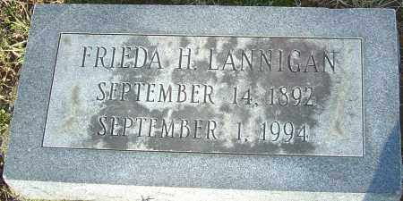 LANNIGAN, FRIEDA H - Franklin County, Ohio | FRIEDA H LANNIGAN - Ohio Gravestone Photos
