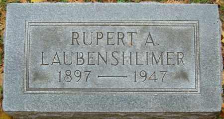 LAUBENSHEIMER, RUPERT A - Franklin County, Ohio | RUPERT A LAUBENSHEIMER - Ohio Gravestone Photos