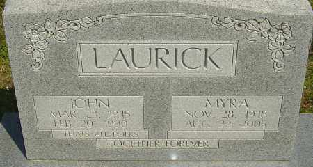 LAURICK, MYRA - Franklin County, Ohio | MYRA LAURICK - Ohio Gravestone Photos
