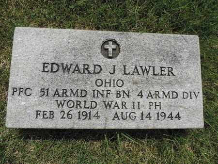 LAWLER, EDWARD J. - Franklin County, Ohio | EDWARD J. LAWLER - Ohio Gravestone Photos