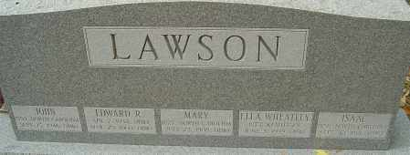 LAWSON, ELLA - Franklin County, Ohio | ELLA LAWSON - Ohio Gravestone Photos