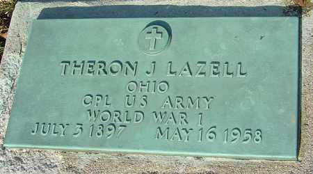 LAZELL, THERON J - Franklin County, Ohio | THERON J LAZELL - Ohio Gravestone Photos