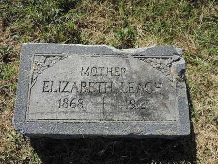 LEACH, ELIZABETH - Franklin County, Ohio | ELIZABETH LEACH - Ohio Gravestone Photos