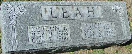 LEAH, GORDON FREDERICK - Franklin County, Ohio | GORDON FREDERICK LEAH - Ohio Gravestone Photos