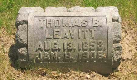 LEAVITT, THOMAS B. - Franklin County, Ohio | THOMAS B. LEAVITT - Ohio Gravestone Photos