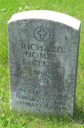 LECLEAR, RICHARD HOMER - Franklin County, Ohio | RICHARD HOMER LECLEAR - Ohio Gravestone Photos