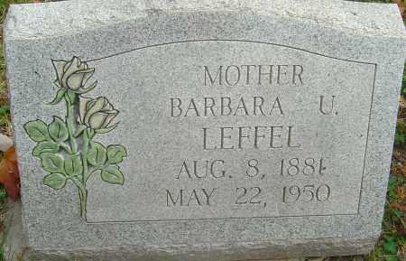 LEFFEL, BARBARA U - Franklin County, Ohio | BARBARA U LEFFEL - Ohio Gravestone Photos