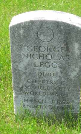 LEGG, GEORGE NICHOLAS - Franklin County, Ohio | GEORGE NICHOLAS LEGG - Ohio Gravestone Photos