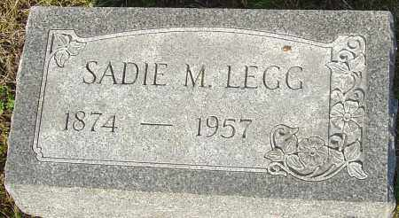 LEGG, SADIE M - Franklin County, Ohio | SADIE M LEGG - Ohio Gravestone Photos