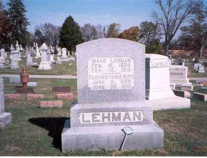 LEHMAN, ELIZABETH - Franklin County, Ohio | ELIZABETH LEHMAN - Ohio Gravestone Photos