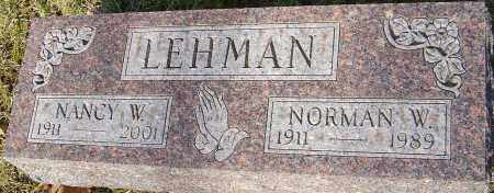 LEHMAN, NORMAN W - Franklin County, Ohio | NORMAN W LEHMAN - Ohio Gravestone Photos