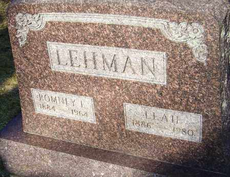 LEHMAN, LEAH - Franklin County, Ohio | LEAH LEHMAN - Ohio Gravestone Photos