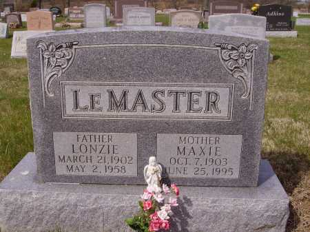 LEMASTER, LONZIE - Franklin County, Ohio | LONZIE LEMASTER - Ohio Gravestone Photos