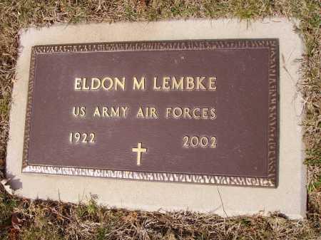 LEMBKE, ELDON M. - Franklin County, Ohio | ELDON M. LEMBKE - Ohio Gravestone Photos