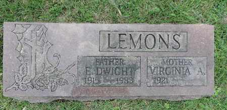 LEMONS, VIRGINIA A. - Franklin County, Ohio | VIRGINIA A. LEMONS - Ohio Gravestone Photos