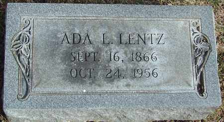 LENTZ, ADA L - Franklin County, Ohio | ADA L LENTZ - Ohio Gravestone Photos