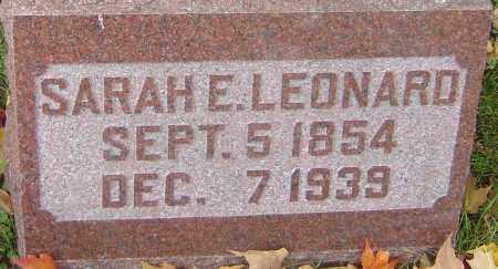 LEONARD, SARAH E - Franklin County, Ohio | SARAH E LEONARD - Ohio Gravestone Photos