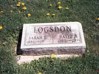 LOGSDON, SARAH E. - Franklin County, Ohio | SARAH E. LOGSDON - Ohio Gravestone Photos