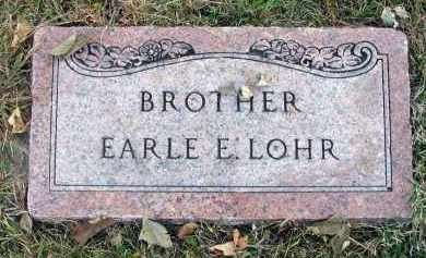 LOHR, EARLE E. - Franklin County, Ohio | EARLE E. LOHR - Ohio Gravestone Photos