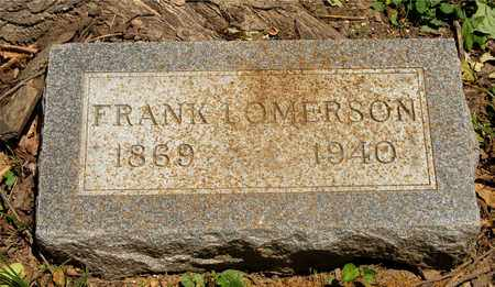 LOMERSON, FRANK - Franklin County, Ohio | FRANK LOMERSON - Ohio Gravestone Photos