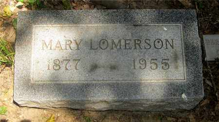 LOMERSON, MARY - Franklin County, Ohio | MARY LOMERSON - Ohio Gravestone Photos