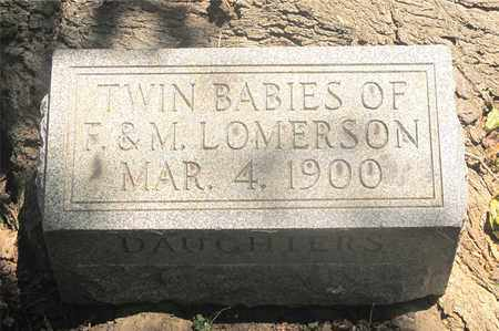 LOMERSON, TWIN BABIES - Franklin County, Ohio | TWIN BABIES LOMERSON - Ohio Gravestone Photos