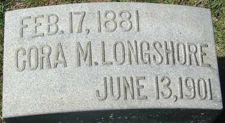 LONGSHORE, CORA M - Franklin County, Ohio | CORA M LONGSHORE - Ohio Gravestone Photos
