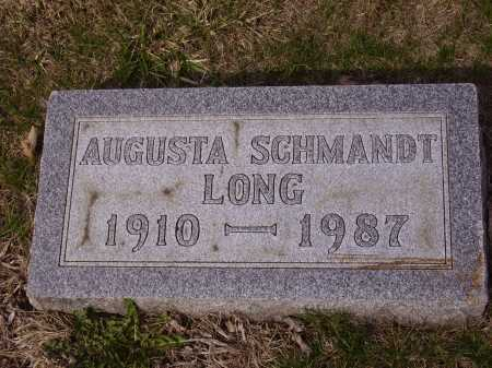 SCHMANDT LONG, AUGUSTA - Franklin County, Ohio | AUGUSTA SCHMANDT LONG - Ohio Gravestone Photos