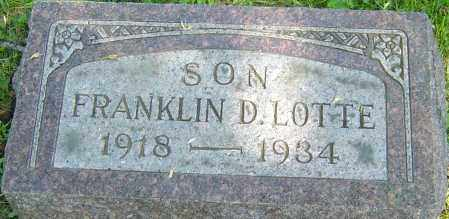 LOTTE, FRANKLIN D - Franklin County, Ohio | FRANKLIN D LOTTE - Ohio Gravestone Photos