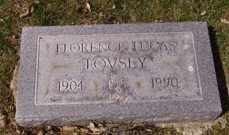 LUCAS LOVSEY, FLORENCE - Franklin County, Ohio | FLORENCE LUCAS LOVSEY - Ohio Gravestone Photos