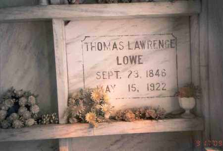 LOWE, THOMAS LAWRENCE - Franklin County, Ohio | THOMAS LAWRENCE LOWE - Ohio Gravestone Photos