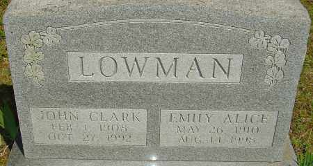 LOWMAN, EMILY ALICE - Franklin County, Ohio | EMILY ALICE LOWMAN - Ohio Gravestone Photos