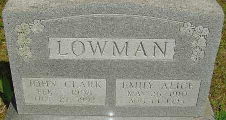 LOWMAN, JOHN CLARK - Franklin County, Ohio | JOHN CLARK LOWMAN - Ohio Gravestone Photos