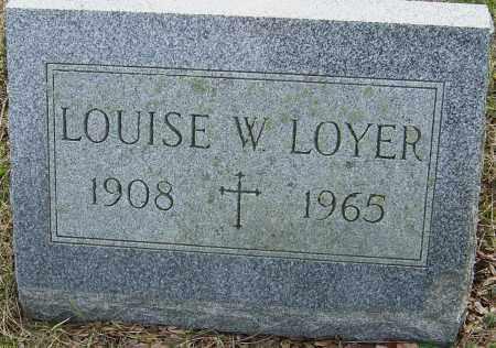 LOYER, LOUISE W - Franklin County, Ohio | LOUISE W LOYER - Ohio Gravestone Photos