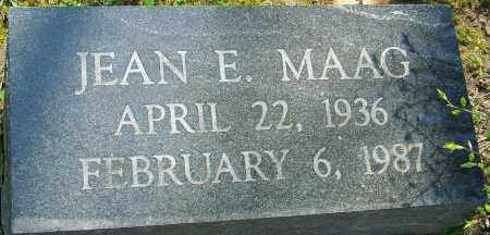 MAAG, JEAN E - Franklin County, Ohio | JEAN E MAAG - Ohio Gravestone Photos