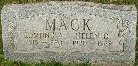 MACK, HELEN D - Franklin County, Ohio | HELEN D MACK - Ohio Gravestone Photos