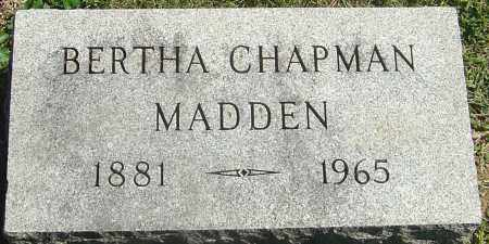 CHAPMAN MADDEN, BERTHA - Franklin County, Ohio | BERTHA CHAPMAN MADDEN - Ohio Gravestone Photos