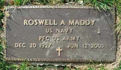 MADDY, ROSWELL A. - Franklin County, Ohio | ROSWELL A. MADDY - Ohio Gravestone Photos