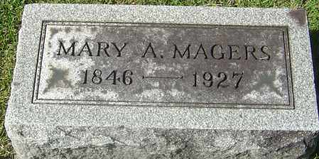 MAGERS, MARY A - Franklin County, Ohio | MARY A MAGERS - Ohio Gravestone Photos